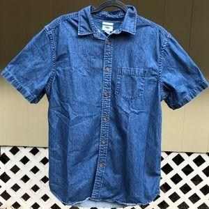 Old Navy denim buttoned down collard men's shirt